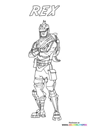 Rex - Fortnite coloring page