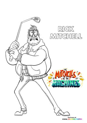 Rick - The Mitchells coloring page