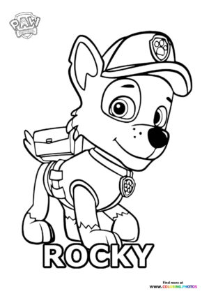 Rocky posing coloring page