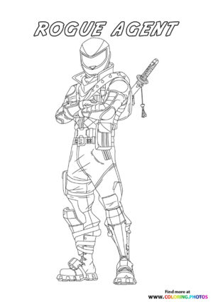 Rogue Agent - Fortnite coloring page