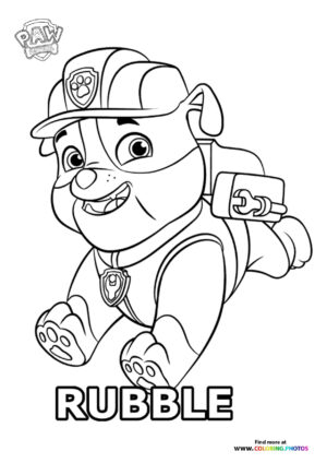 Rubble running coloring page