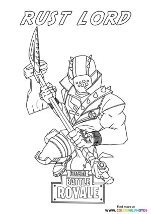 Rust Lort - Fortnite coloring page