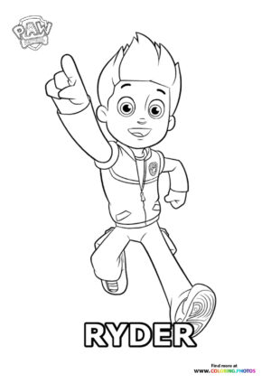 Ryder running coloring page