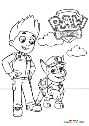 Ryder and Chase coloring page