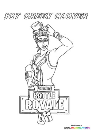 Sgt Green Clover - Fortnite coloring page
