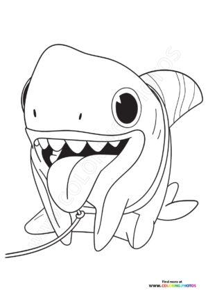 Sharkdog coloring pages
