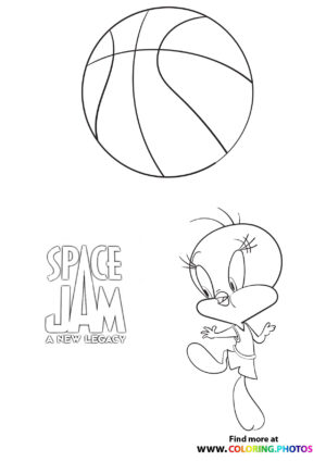 Tweety bird - Space Jam: A new legacy coloring page