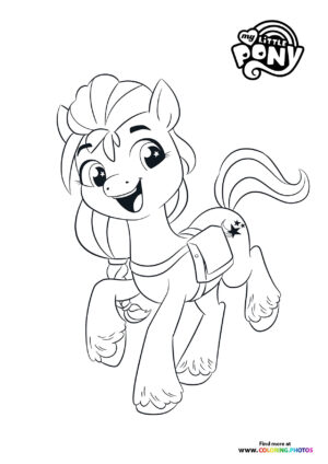 Sunny Starscout jumping coloring page