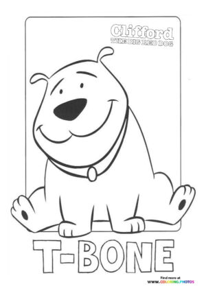 T-bone from Clifford coloring page