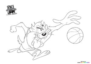 Taz coloring page