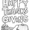Thanksgiving fonts and food coloring page