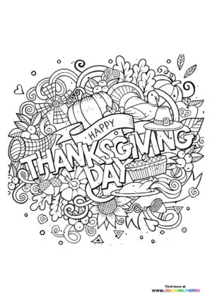 Thanksgiving motives coloring page