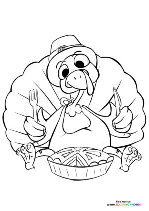 Thanksgiving Tureky coloring page