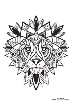 Tiger tattoo coloring for adults