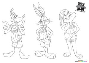 Bugs, Duffy and Lola coloring page