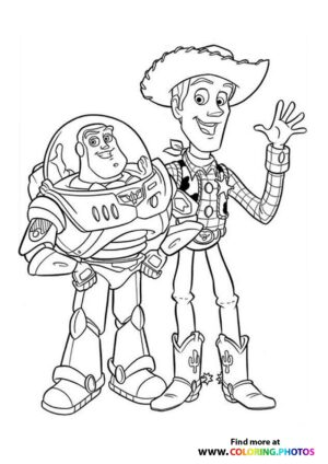 Toy Story Buzz and Woody Coloring Page