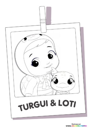 Turgui and Loti - Cry Babies coloring page