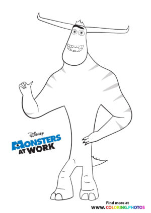 Tylor - Monsters at work coloring page