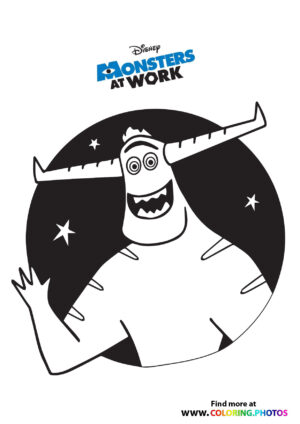 Tylor portrait - Monsters at work coloring page