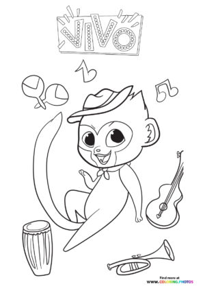 Vivo with instruments coloring page