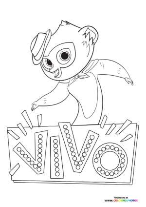 Vivo dancing coloring page