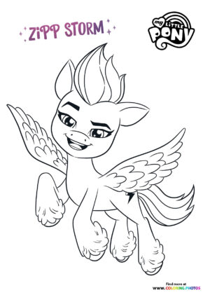Zipp Storm flying coloring page