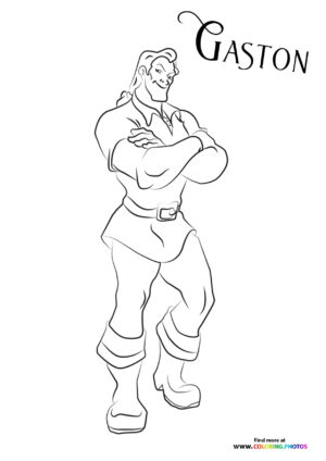 Gaston from Beauty and the Beast coloring page