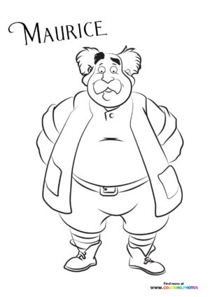Maurice from Beauty and the Beast coloring page