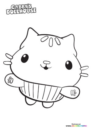 Cakey Cat - Gaby's Dollhouse coloring page