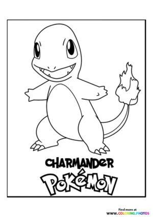 Charmander - Pokemon coloring page