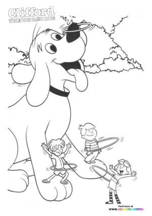 Clifford the Big Red Dog coloring page