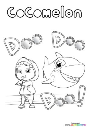 Baby shark - CoComelon coloring page
