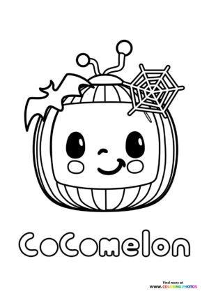 CoComelon halloween pumpkin coloring page