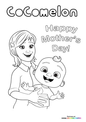 CoComelon Mothers day coloring page