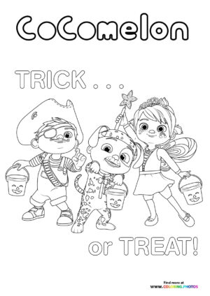 CoComelon Trick or treat coloring page