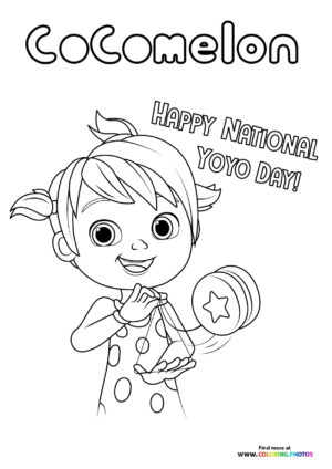 Yoyo from CoComelon coloring page