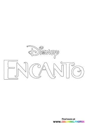 Disney Encanto logo coloring page