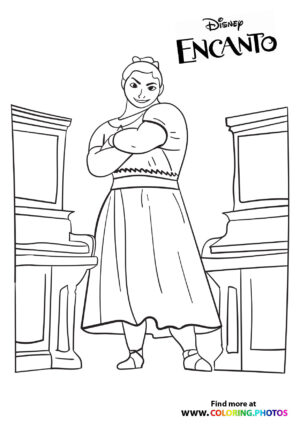 Mirabel's sister - Encanto coloring page