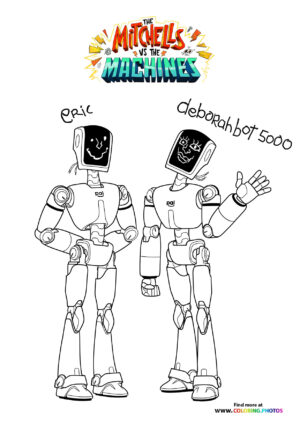 Eric and Deborahbot - The Mitchells coloring page