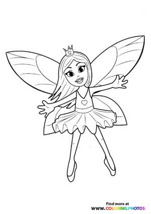 Fairy ballerina with a crown