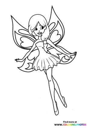 Fairy in a dress flying