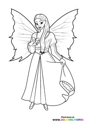 Fairy with butterfly