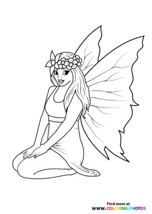 Fairy with a flower crown