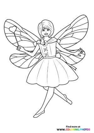 Fairy with a hart magic wand