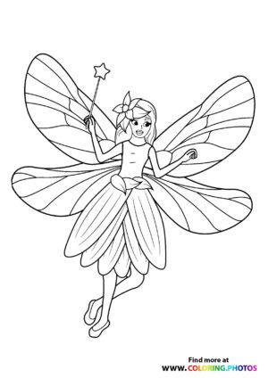 Fairy with star magic wand