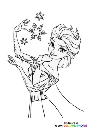 Frozen Elsa making Snowflakes