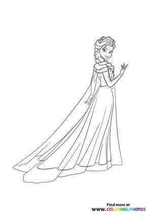 Frozen Elsa in dress