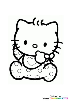 Hello Kitty baby coloring page