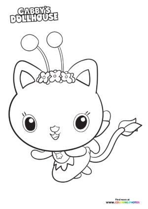Kitty Fairy - Gaby's Dollhouse coloring page