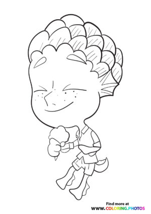 Monster Luca eating Ice-Cream coloring page